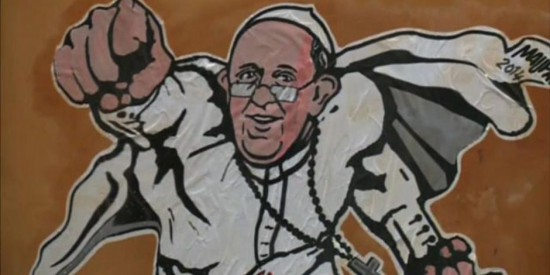 Pope Francis Superhero